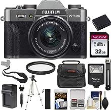 $1010 Get Fujifilm X-T30 Wi-Fi Digital Camera & 15-45mm XC OIS PZ Lens (Charcoal) with 32GB Card + Battery + Charger + Tripod + Flash + Case + Kit