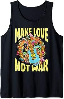Make Love Not War Groovy 60's 70's Hippie Art Design Tank Top