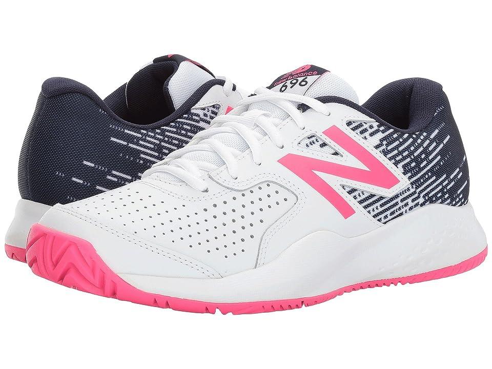 New Balance 696v3 (White/Alpha Pink) Women