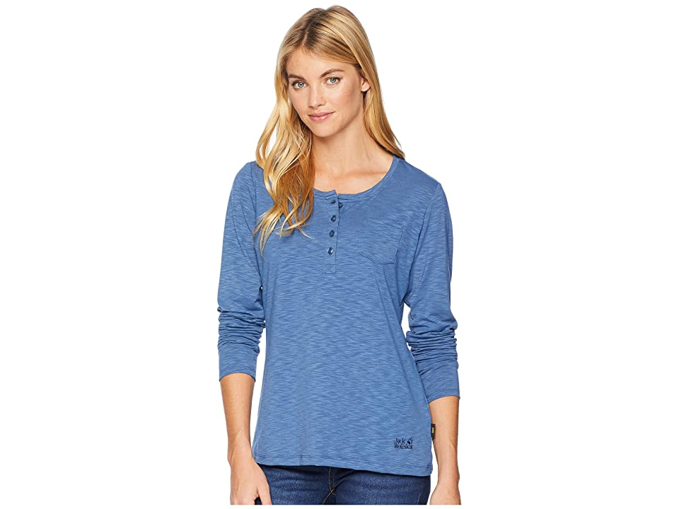 Jack Wolfskin Winter Travel Henley (Ocean Wave) Women