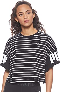 PUMA Women's Rebel Striped TEE