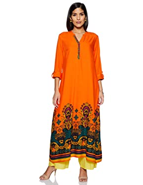 Akkriti By Pantaloons Women's Rayon a-line Kurta