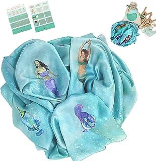 Avery & Ruth (Mermaids) 9 x 3 Feet Giant Play Silks and Play Clips |100% Real Silks | Skin Safe Eco-Friendly Dye | 4 Maple...