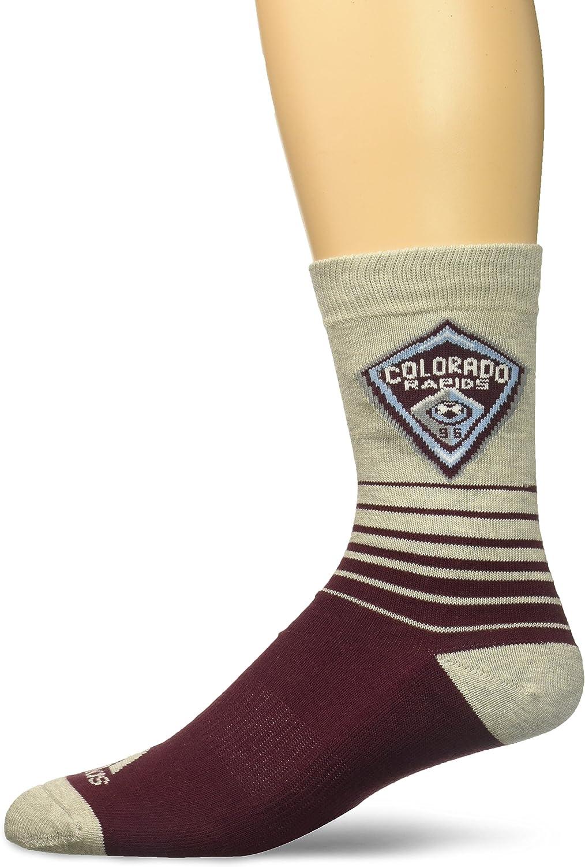 MLS Mens Jacquard Pattern Crew Socks