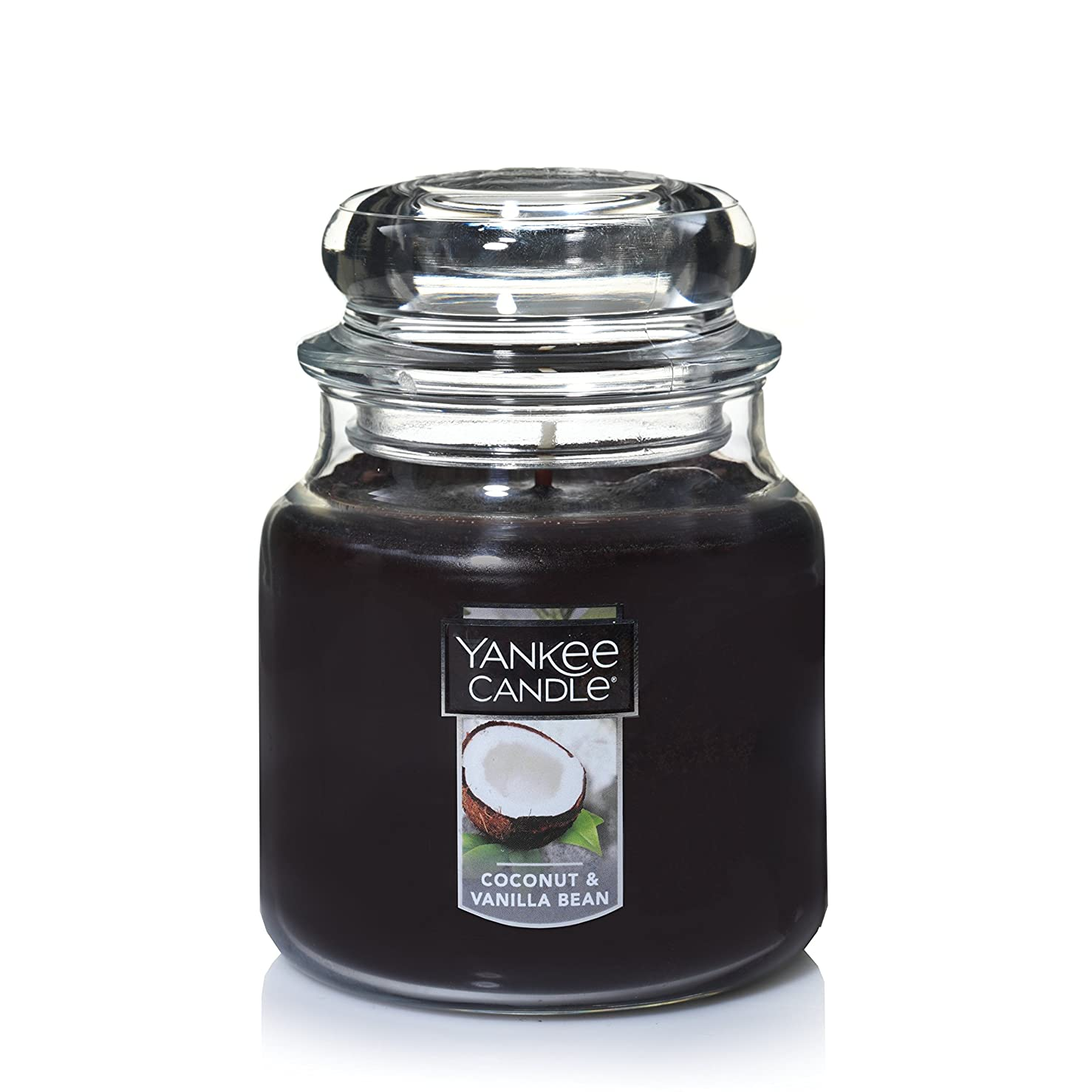気分お特許Yankee Candle Coconut & Vanilla Bean , Food & Spice香り Medium Jar Candle ブラウン 1284531-YC