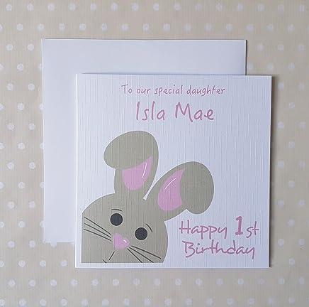 Personalised Happy Easter Card Boy Son Grandson Godson Nephew Uncle Godfather...