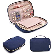 BAGSMART Travel Jewelry Storage Cases Jewelry Organizer Bag for Necklace, Earrings, Rings,...