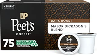 Peet's Coffee Major Dickason's Blend, Dark Roast, 75 Count Single Serve K-Cup..