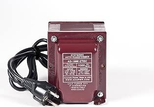 ACUPWR Tru-Watts 1500-Watt Step Down Voltage Transformer with IEC C13 Input and Type F Schuko Plug/Power Cord – Use 110-120-volt Appliances in 220-240-volt Countries - AD-1500IEC