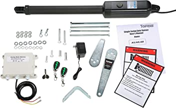 TOPENS A8 Automatic Gate Opener Kit Heavy Duty Single Gate Operator for Single Swing Gates Up to 18 Feet or 850 Pounds, Gate Motor