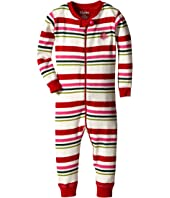Hatley Kids - Holiday Stripe Sleepy Romper (Infant)