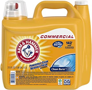 Arm & Hammer 33200-00556 Liquid Laundry Detergent, Clean Burst, 213 oz. 142 Loads (Pack of 2)