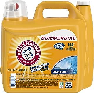 Arm & Hammer 33200-00556 Liquid Laundry Detergent, Clean Burst, 213 oz. 142 Loads (Pack of 2)