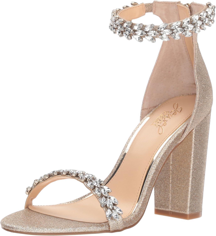 Badgley Mischka Jewel Woherren Mayra Heeled Sandal, Gold Glitter, Glitter, 6.5 M US  Freizeit
