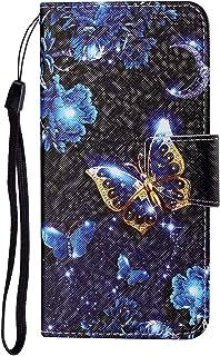 TYWZ Lederen Wallet Case voor Xiaomi Redmi Note 9 Pro,Flip Cover met Patroon Kichstand Kaarthouder Slot Bookstyle Bescherm...
