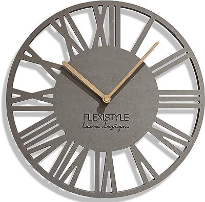 FLEXISTYLE Wall Clock, Grey, 30 cm