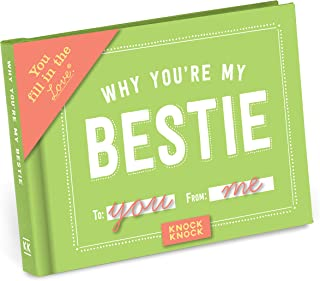 Knock Knock Why You're My Bestie Fill in the Love Book Fill-in-the-Blank Gift Journal