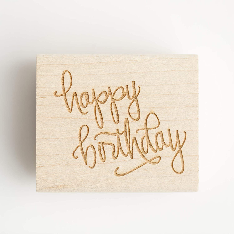 Happy Birthday Rubber Mesa Mall Soldering Stamp