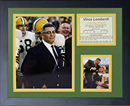 """Vince Lombardi 11"""" x 14"""" Framed Photo Collage by Legends Never Die, Inc. - Color"""