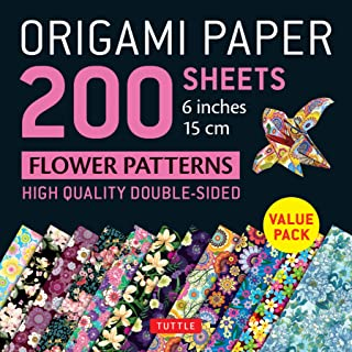 Origami Paper 200 sheets Flower Patterns 6