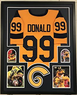 Aaron Donald Autographed Jersey - Framed Color Rush Custom Coa!!! - JSA Certified - Autographed NFL Jerseys