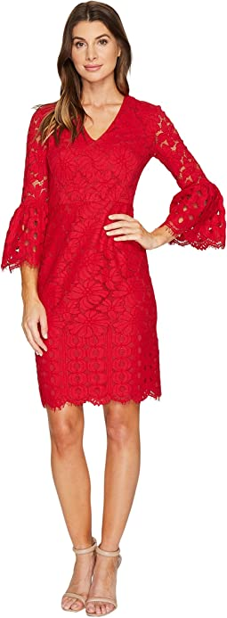 Lace Sheath Dress with Novelty Sleeves