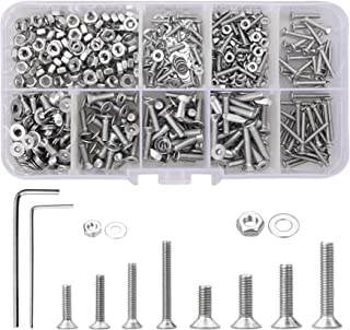 YSDMY 600 stuks Zeskant Socket Platte kop Schroef M2 M3 roestvrij staal Zeshoekige verzonken schroeven met 2 dopsleutels
