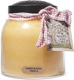 A Cheerful Giver Honeysuckle Vanilla Papa Jar Candle, 34-Ounce