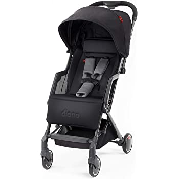 Diono Traverze Luggage-Style Travel Stroller, Black Cube