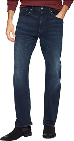 CKJ 037 Relaxed Straight Jeans in Boston Blue/Black