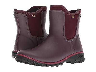 Bogs Sauvie Solid Slip-On Boot (Wine) Women