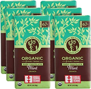 Equal Exchange Organic Mint Chocolate, 2.8-Ounce (Pack of 6)