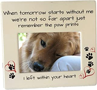 BANBERRY DESIGNS Pet Memorial Frame - When Tomorrow Starts Without Me Sentiment - 4 x 6 Inch Picture Frame for Dog or Cat ...