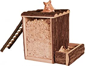 TRIXIE Gran Torre de excavación de Madera para Mascotas hámster, 25× 24× 20cm