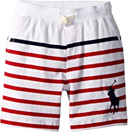 Striped Cotton Jersey Shorts (Little Kids)