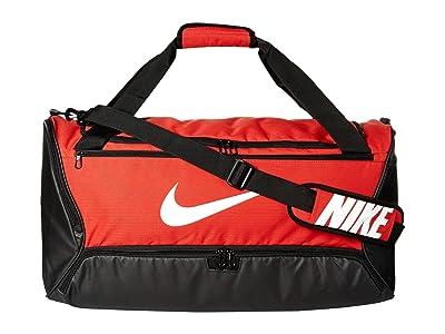 Nike Brasilia Medium Duffel 9.0 (University Red/Black/White) Bags