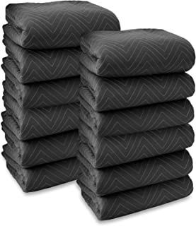 Sure-Max 12 Moving & Packing Blankets - Heavy Duty Pro - 80