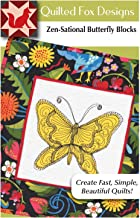 Zen-Sational Butterfly Blocks Quilt Pattern: Inspired by Zentangle (Design Originals, Quilted Fox Designs) Free-Motion Stitches for Quilting Applique & Stitches with Coloring; Table Runner 18