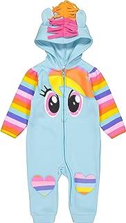 My Little Pony Rainbow Dash Baby Girls' Fleece Costume Coverall with Hood