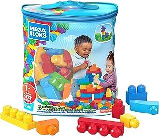 Mega Bloks Big Building Bag 60Pc Classic, Multi Color,DCH55