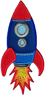PatchMommy Rocket Patch, Iron On/Sew On - Appliques for Kids Children