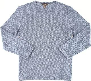 Tasso Elba Mens Medallion Knit Pullover Sweater