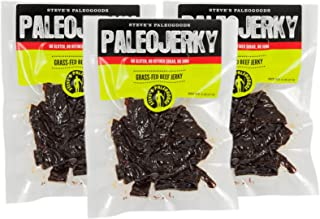Steve's PaleoGoods, PaleoJerky Grass-Fed Beef, 2 oz (Pack of 3)