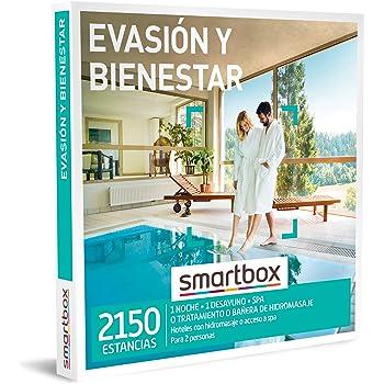 SMARTBOX - Caja Regalo - Evasión y Bienestar - Idea de Regalo - 1 Noche con Desayuno y SPA, bañera de hidromasaje o Tratamiento para 2 Personas: Amazon.es: Deportes y aire libre