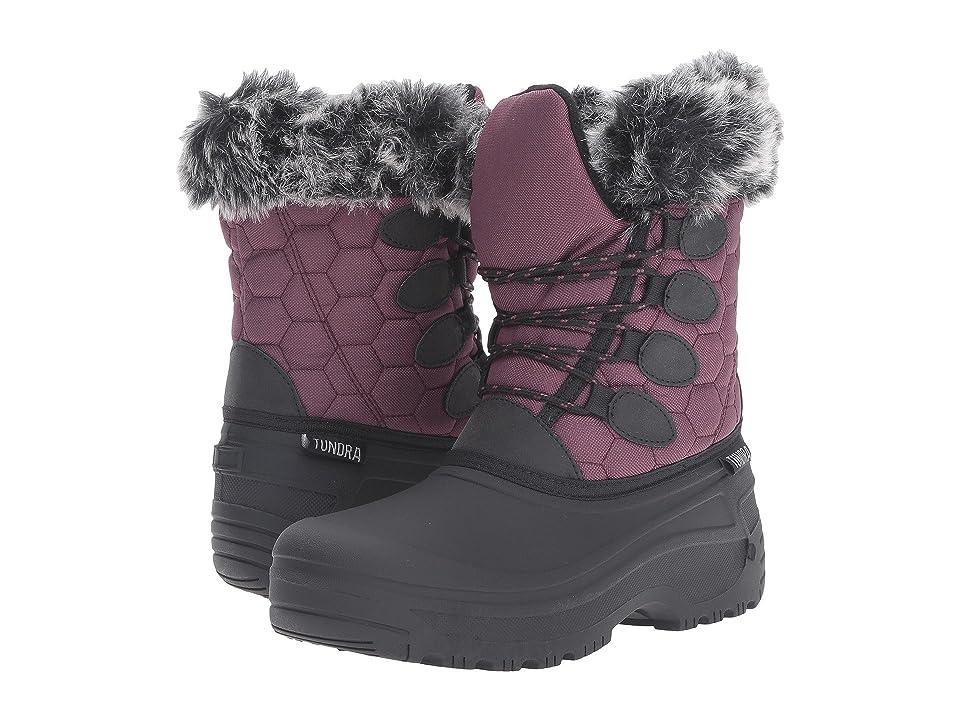 Tundra Boots Gayle (Black/Marsala) Women