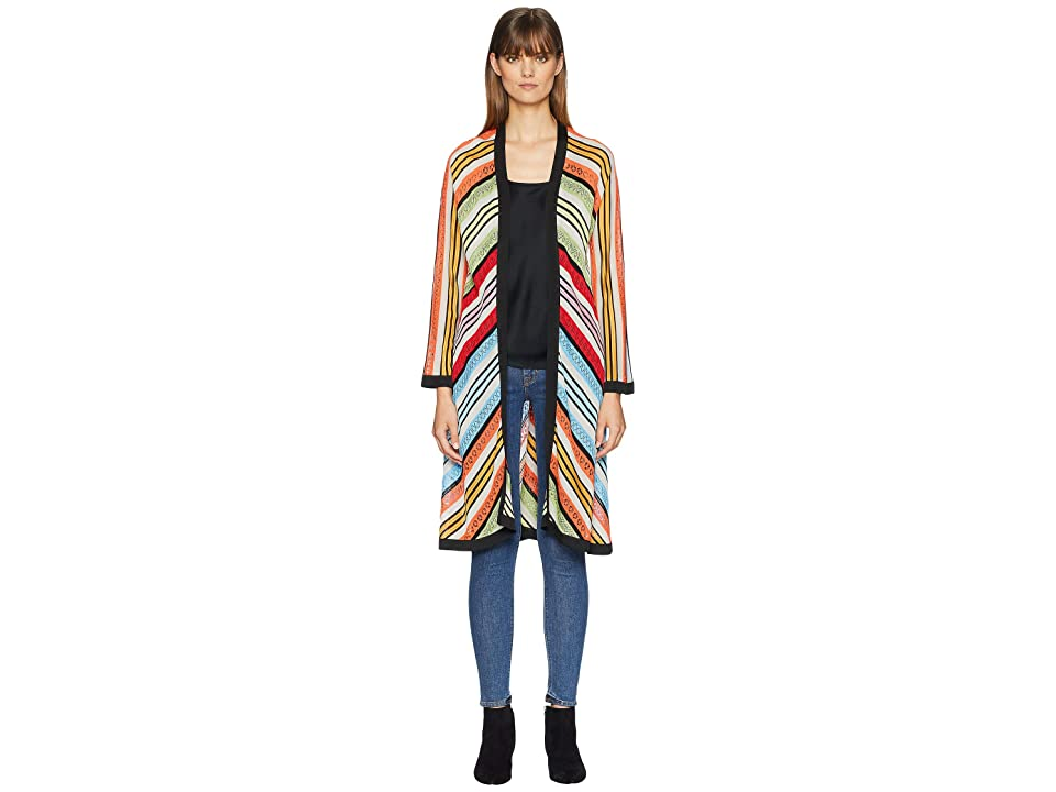 Mary Katrantzou Sola Cardigan Fira Stripe Knit (Multi) Women