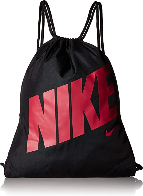 trono Analista Normalmente  Nike Unisex-Youth Graphic Gymsack, Black/Black/Rush Pink, 45.5 x 35.5 cm  (approx.): Amazon.co.uk: Sports & Outdoors