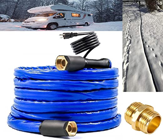 """H&G lifestyles Heated Water Hose for RV 1/2"""" Inner Diameter 25 ft Withstand Temperatures Down to -40°F Self-Regulating"""