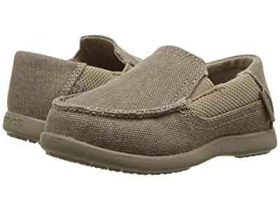 Crocs Kids Santa Cruz II PS (Toddler/Little Kid) (Khaki/Cobblestone) Boy