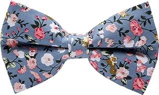 Mumusung Men's Flower Core Solid Bowtie